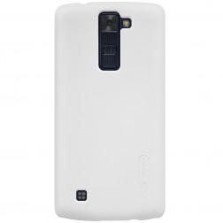 """""""Nillkin"""" Frosted Shield dėklas - baltas + apsauginė ekrano plėvelė (K8)"""