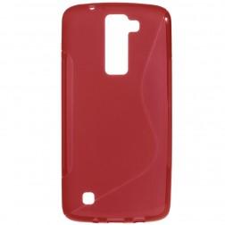 Kieto silikono (TPU) dėklas - raudonas (K8)