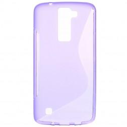 Kieto silikono (TPU) dėklas - violetinis (K8)