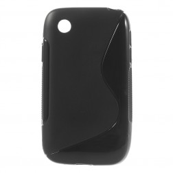 Kieto silikono dėklas - juodas (L40 / L40 Dual)