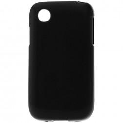 Kieto silikono matinis dėklas - juodas (L40)