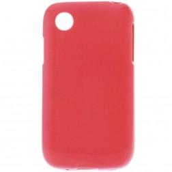 Kieto silikono matinis dėklas - raudonas (L40)