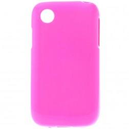 Kieto silikono matinis dėklas - rožinis (L40)