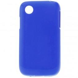 Kieto silikono matinis dėklas - tamsiai mėlynas (L40)