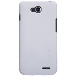 """""""Nillkin"""" Frosted Shield dėklas - baltas + apsauginė ekrano plėvelė (L90 Dual)"""