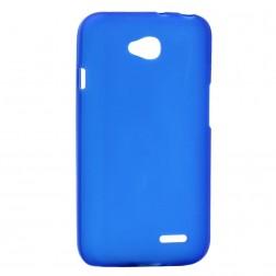 Kieto silikono matinis dėklas - mėlynas (L90)