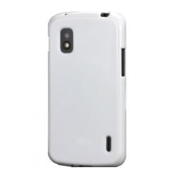 """""""Jelly Case"""" dėklas - baltas (Nexus 4)"""