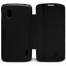 """""""Nillkin"""" Fresh atverčiamas dėklas - juodas (Nexus 4)"""