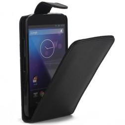 Klasikinis atverčiamas dėklas - juodas (Nexus 4)