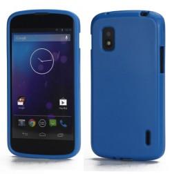 """""""Jelly Case"""" dėklas - mėlynas (Nexus 4)"""