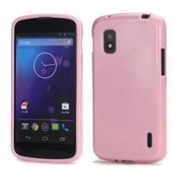 """""""Jelly Case"""" dėklas - rožinis (Nexus 4)"""