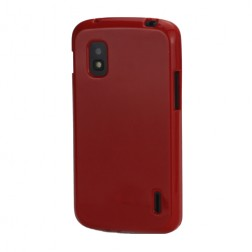"""""""Jelly Case"""" dėklas - raudonas (Nexus 4)"""
