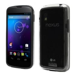 Kraštų apvadas, rėmelis - juodas, skaidrus (Nexus 4)