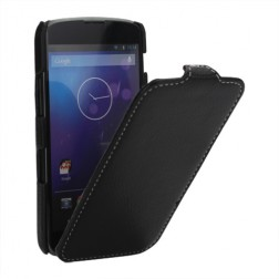 """""""Lychee"""" atverčiamas dėklas - juodas (Nexus 4)"""