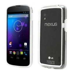 Kraštų apvadas, rėmelis - baltas, skaidrus (Nexus 4)