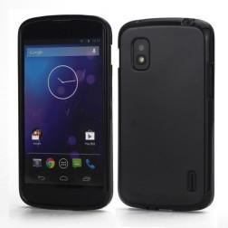 """""""Jelly Case"""" dėklas - juodas (Nexus 4)"""