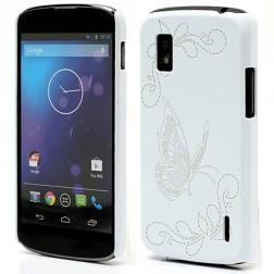 """""""Butterfly"""" dėklas - baltas (Nexus 4)"""