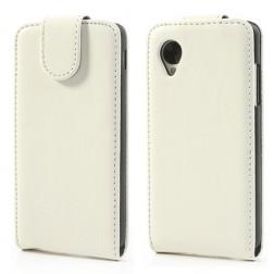 Klasikinis atverčiamas dėklas - baltas (Nexus 5)