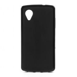 """""""Jelly Case"""" dėklas - juodas (Nexus 5)"""