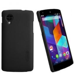 """""""Nillkin"""" Super Frosted dėklas - juodas + apsauginė ekrano plėvelė (Nexus 5)"""