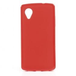 """""""Jelly Case"""" dėklas - raudonas (Nexus 5)"""