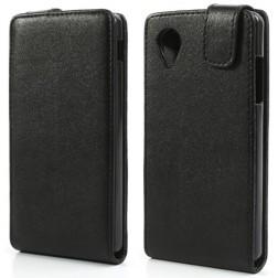Klasikinis atverčiamas dėklas - juodas (Nexus 5)