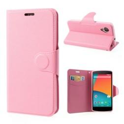 Atverčiamas dėklas, piniginė - rožinis (Nexus 5)