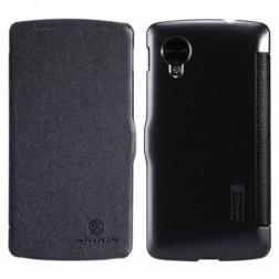 """""""Nillkin"""" Fresh atverčiamas dėklas - juodas (Nexus 5)"""