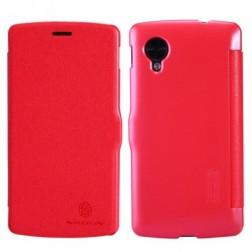 """""""Nillkin"""" Fresh atverčiamas dėklas - raudonas (Nexus 5)"""