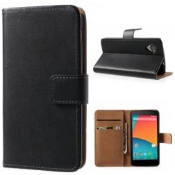 """""""Litchi"""" odinis dėklas, piniginė - juodas (Nexus 5)"""