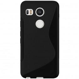 Kieto silikono (TPU) dėklas - juodas (Nexus 5X)
