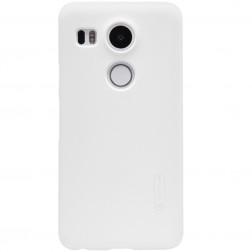 """""""Nillkin"""" Frosted Shield dėklas - baltas + apsauginė ekrano plėvelė (Nexus 5X)"""