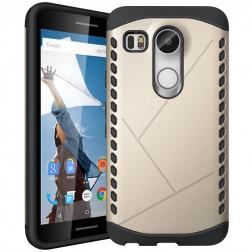 Sustiprintos apsaugos dėklas - auksinis (Nexus 5X)