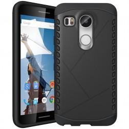 Sustiprintos apsaugos dėklas - juodas (Nexus 5X)