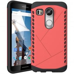 Sustiprintos apsaugos dėklas - raudonas (Nexus 5X)