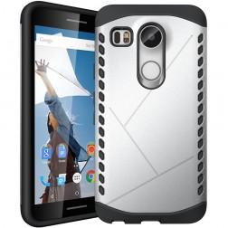 Sustiprintos apsaugos dėklas - sidabrinis (Nexus 5X)