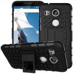 """""""Kickstand"""" sustiprintos apsaugos dėklas - juodas (Nexus 5X)"""