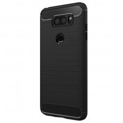 """""""Carbon"""" kieto silikono (TPU) dėklas - juodas (V30)"""