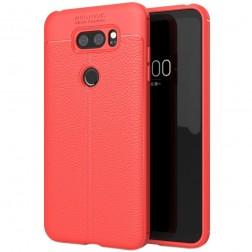 """""""FOCUS"""" kieto silikono (TPU) dėklas - raudonas (V30)"""