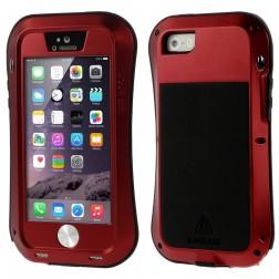 """""""LOVE MEI"""" Dropproof  sustiprintos apsaugos dėklas - raudonas (iPhone 5 / 5S / SE)"""