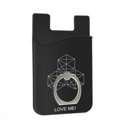 """""""Love Mei"""" kortelės dėklas - juodas"""