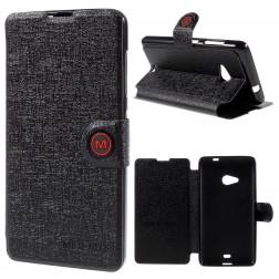 """""""Meilate"""" atverčiamas dėklas - juodas (Lumia 535)"""
