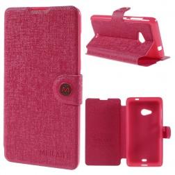 """""""Meilate"""" atverčiamas dėklas - rožinis (Lumia 535)"""