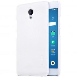 """""""Nillkin"""" Frosted Shield dėklas - baltas + apsauginė ekrano plėvelė (m5 note)"""