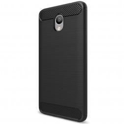 """""""Carbon"""" kieto silikono (TPU) dėklas - juodas (m5 note)"""