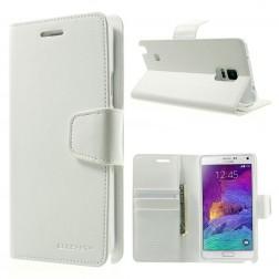 """""""Mercury"""" Sonata atverčiamas dėklas - baltas (Galaxy Note 4)"""