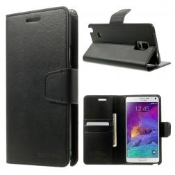 """""""Mercury"""" Sonata atverčiamas dėklas - juodas (Galaxy Note 4)"""