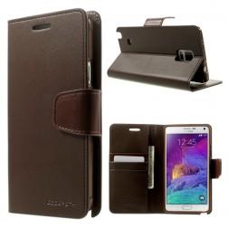 """""""Mercury"""" Sonata atverčiamas dėklas - tamsiai rudas (Galaxy Note 4)"""