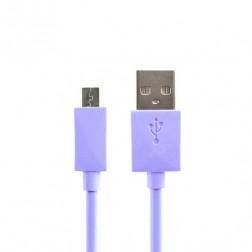 Micro USB 1.0 laidas - violetinis (1 m.)