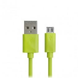 Micro USB 1.0 laidas - žalias (1 m.)